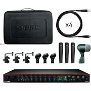 Shure Drummer's Track Pack Bundle With Interfacea And Drum Microphone Kit