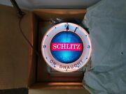 1961 Schlitz Beer Light Clock Sign Motion Effect Bubbler On Draught New In Box