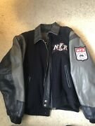National Finals Rodeo Vintage 2000 Leather Wool Varsity Jacket Size L Nfr Usa
