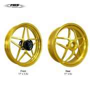 Mos Forged Aluminum Alloy Wheels Rims Ducati Panigale V4 2018-2021 Light Gold