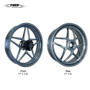 Mos Forged Aluminum Alloy Wheels Rims Ducati Panigale V4 2018-2021 Grey Metal