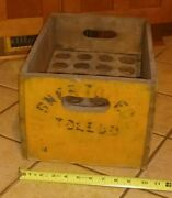 Pre Prohibition Huebner Toledo Brewery Wood Beer Case Crate Whistle Fostoria O