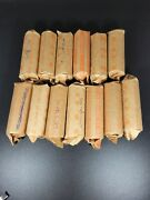 1932-1964 Washington Quarters - 10 Fv 90 Silver 40 Count Mixed Roll Nice