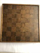 Early Inlaid Folk Art Game Board Checker Board Two-sided 13andrdquo By 13andrdquo