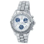 Breitling Colt Chrono Ocean Stainless Steel Automatic White Menand039s Watch A53350