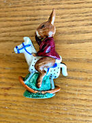 Bunnykins Figurines By Royal Doulton Tally Ho Db 12 On Rocking Horse