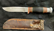 Antique Old 1900s British English Wade And Butcher Sheffield Pioneer Hunting Knife