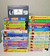 Lot Of 24 Sesame Street And Elmo's World Vhs Tapes - Christmas, Educational, Etc
