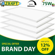 75w Led Panel Light 2x4ft,dimmable 0-10v,office Ultra Thin Drop Ceiling Fixture