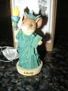 Enesco Tales With Heart Statue Of Liberty Mouse Figurine 6008090 Nib