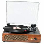 Vinyl Record Player Vintage Portable Record Player With Built-in Stereo