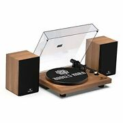 Vinyl Record Player, Hi-fi System Vintage Bluetooth Turntable Players With
