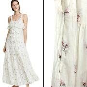 Paige Women's Tevin Maxi Dress White Western Rose Msrp 259 Size Xs 5151f22-7199