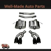 Corsa 304 Ss Axle-back Exhaust System Quad Rear For 16-19 Cadillac Cts 14358blk