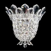 Schonbek Trilliane 10.5x11.5 Elements Clear Crystal Silver Wall Sconce