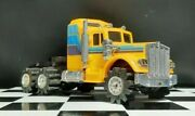 Used Rare Yellow 1980s Stomper Kw Kenworth Semi Truck Toy See Descr