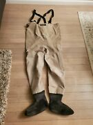 Simms Gore-tex Guide Weight Stockingfoot Waders Size Large Beige