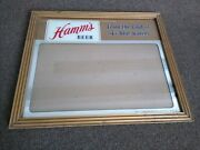 1950and039s Hammand039s Beer Sign Reverse On Glass Bar License Advertising Hamms Mirror
