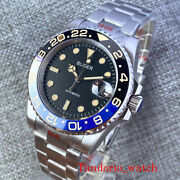 Bliger 40mm Black Dial Sapphire Crystal Miyota 8215 Pt5000 Automatic Men Watches