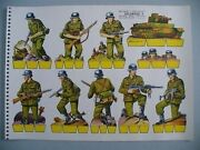 Spain Spanish Civil War Military Army Toy Soldiers Wwii Paper Dolls