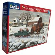 Christmas Delivery 1000 Piece Interlocking Jigsaw Puzzle By White Mountain Nice