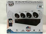 Night Owl 4k Ultra Hd Wired Security System 8 Cameras 12 Channel Dvr 1tb D2149
