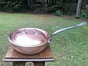 Mauviel Copper 10 Saute Pan W/lid Stainless Handle Stainless Steel Lined