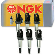 6 Pc Ngk Ignition Coils For 2015-2019 Bmw M4 3.0l L6 Spark Plug Wire Boot Ep