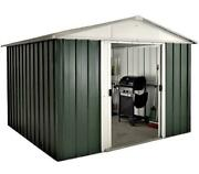 282 Returned Yardmaster Apex Metal Garden Shed - Max External Size 9and03911 X 7and0399