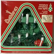 Vintage Davinci Miniature Christmas Tree Candle String Lights Made In Italy