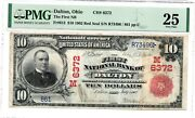 1902 Rs 10 The First National Bank Of Dalton Ohio Oh - Serial 861andnbsp Chater 6372