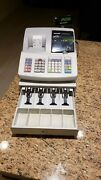 Sharp Electronic Cash Register Model Xe-a203 W/ 2 Keys And 18 Thermal Papers