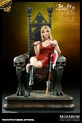Buffy The Vampire Slayer On Throne Sideshow Exclusive Figure Statue Sealed Mib