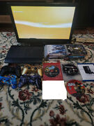 Sony Playstation 3 Ps3 Super Slim Upgraded To 1tb Console W/ 15 Games 4 Controls