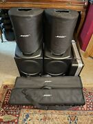 Pa Complete System 2x Bose L1 Compact Speakers 2x Presonus T10 Subs Gator Case