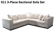 New Modern Design 3-pc Microfiber Sectional Sofa S11 Customization Available