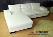 2pc New Modern Leather Sectional Sofa Chaise S281b Custom Made Options