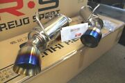 Srs Axleback Exhaust For Infiniti G37 Q60 2008-2016 Coupe Rwd 4.5 Burnt Tips