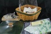 Longaberger 2006 Lots Of Luck Lucky Twist Basket Combo With Woodcrafts Lid - New