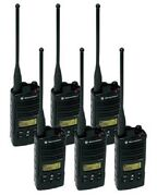 6 New Motorola Rdu4160d Radios And Chargers And Belt Clips 16 Channel 4 Watt Uhf