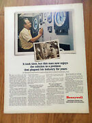 1966 Honeywell Automation Systems Ad John Restle Technician Paper Coating