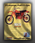 Vintage Can-am Mx-5 Motorcycle Banner