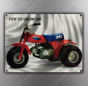 Vintage Honda And039fun To Grow On.and039 Three Wheeler Banner