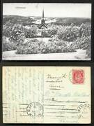 Lillehammer Aerial View Church Norway Norge Stamp 1919