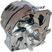 New High Output Alternator For Chevy Gm Chrome Billet Pulley Fan 3 Wire 200 Amp