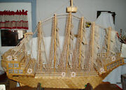 Dc Prison Folk Art Matchstick Ship Huge 5and039 Length Local Pickup Only