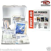Osha Ansi 50 Person First Aid Kit Metal Case Business