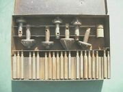 Vintage Head Seat Cutting Kit New Britain Tools With Metal Box Used Parts.
