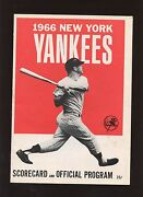 1966 And 1979 New York Yankees Programs / Scorecards 2 Different