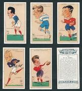 Players Football Caricatures By Mac 1927 Set Of Cards Soccer Rugby Union And Lge